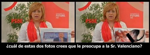 ¿Cual de estas dos fotos crees que le preocupa a la Sr. Valenciano?